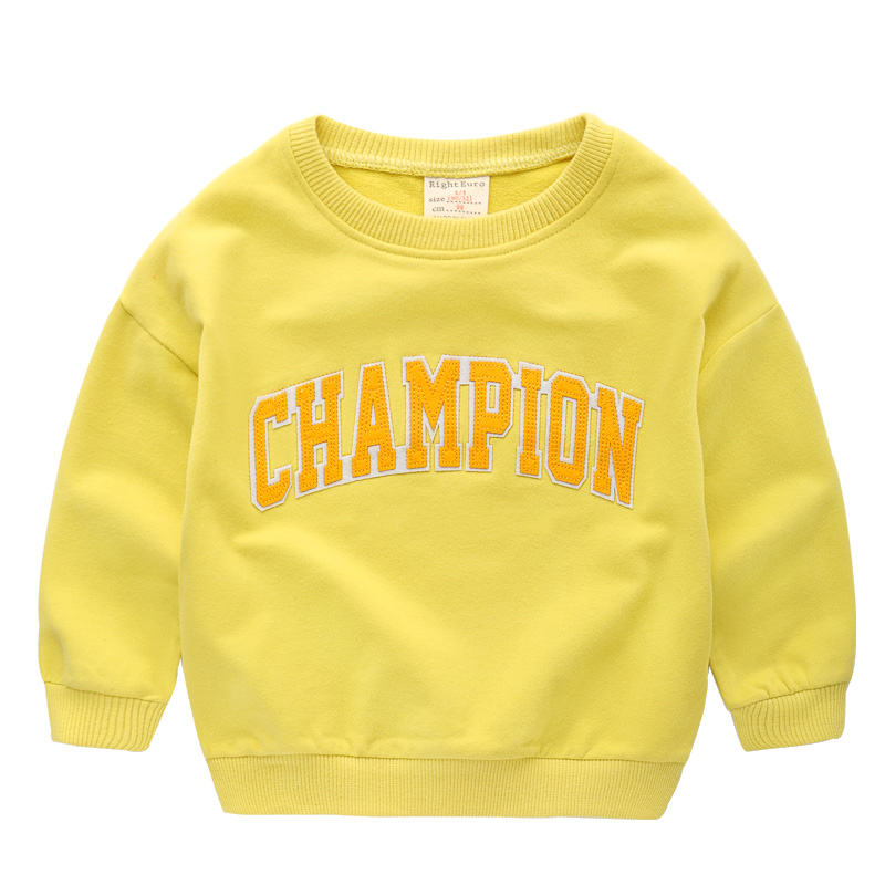 2018 spring boys cotton letter champin sweatshirt toddler baby girls casual clothing children clothes kids tracksuit sportwears