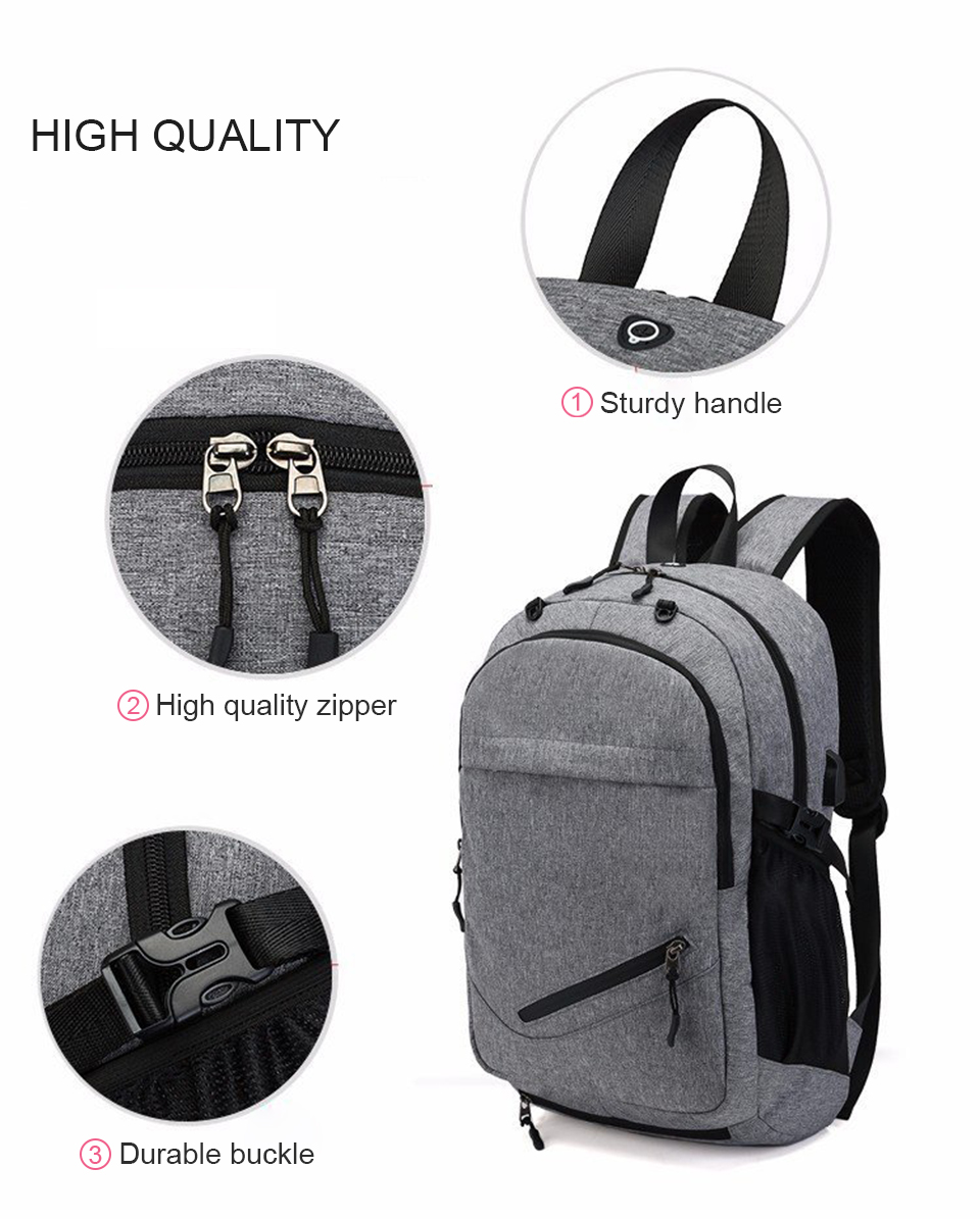 Travel Backpack Student Backpacks Laptop Notebook Back Pack Men Male Waterproof Bagpack USB Charging School Bags For Teenagers (7)