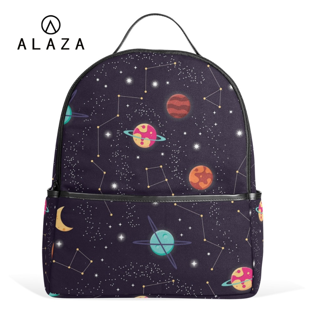 f98cd4a97 ALAZA Solar System Space Planet Polyester Backpack School Travel Bag High  Quality Fashion Travel Tote Backpack-in Backpacks from Luggage & Bags on ...