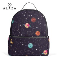 ALAZA Solar System Space Planet Polyester Backpack School Travel Bag High Quality Fashion Travel Tote Backpack