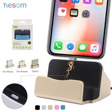 USB C Micro Magnet Charging Dock Station Desktop Magnetic Charger Sync Data Stand For iPhone 12 11 Pro X XR XS Max 8 7 6S Plus
