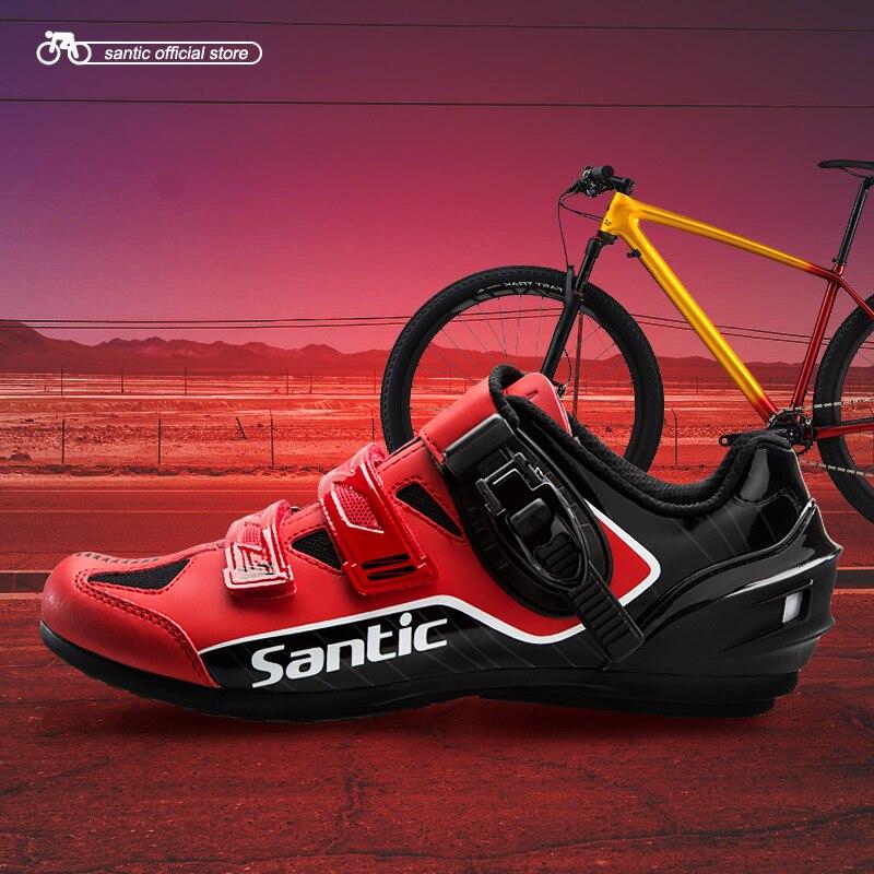 Santic Men Cycling Unlocked Shoes Reflective Road MTB Bike Bicycle Shoes Breathable Shoes Men Rubber Outsole