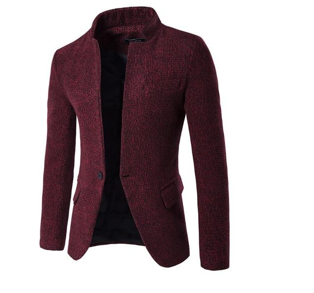 2016 Осенью и зимой мужская мода снежинка костюм куртка Новая мужская одежда повседневная Slim Fit Стенд воротник костюмы высокое качество