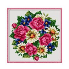 Joy Sunday Diamond Embroidery Flowers Full Drill Square Rose Mosaic Picture Rhinestones Icons