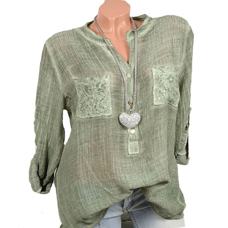 S-5XL мереживна кишеня з довгими - Жіночий одяг