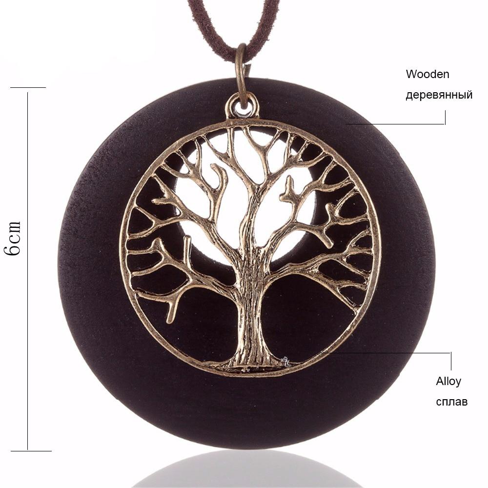 2017 Baru pernyataan kalung & liontin vintage Kayu Kehidupan Pohon - Perhiasan fashion - Foto 6