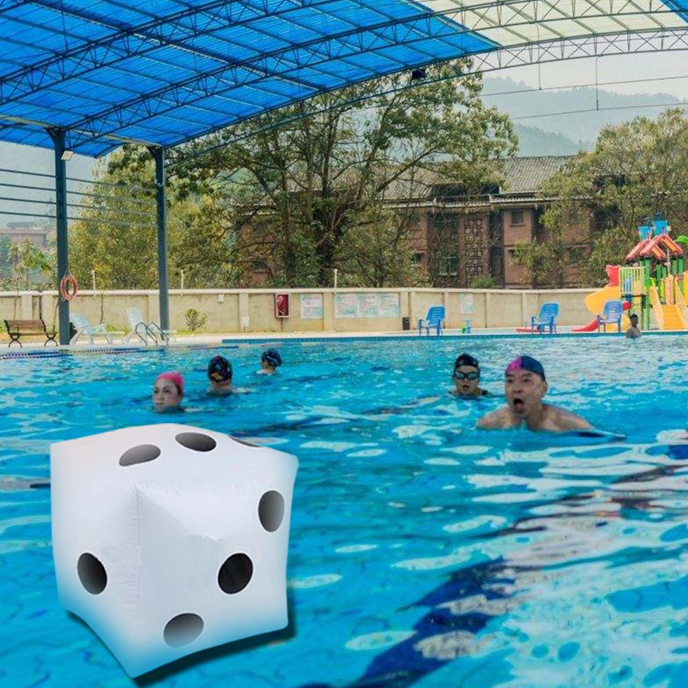 32CM Child Toy Inflatable Jumbo Dice PVC Dot Diagonal Giant Toys Swim Indoor Outdoor Fun Party Dices