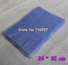 24x32cm 100 szt Worki termokurczliwe Pvc tanie tanio 24*32cm Okna koperty 100pcs pack groceries packaging heat shrink bags