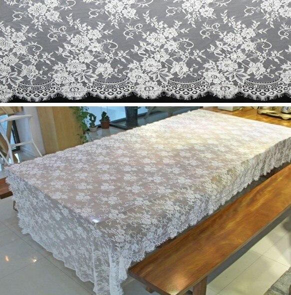 Date de mariage tissu dentelle garniture/décoration de table/de mariage robe accessorries/le bord des Cils Dentelle ruban 150 cm largeur x 300 cm