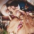 2017 Flower Fairies Wedding Dress Sweetheart One Shoulder Flowers Ball Gown Tulle Floor-Length Vestidos De Novia Princesa