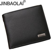 JINBAOLAI krótkie prawdziwej skóry męskie portfele skórzane moda kieszonka na monety posiadacz karty mężczyzna torebka proste marka wysokiej jakości Portfele męskie tanie tanio Skóra bydlęca 11 5cm JIN002-3 2 5cm Genuine Leather Nie zamek Zdjęcie holder Uwaga przedziału Standardowe portfele Stałe