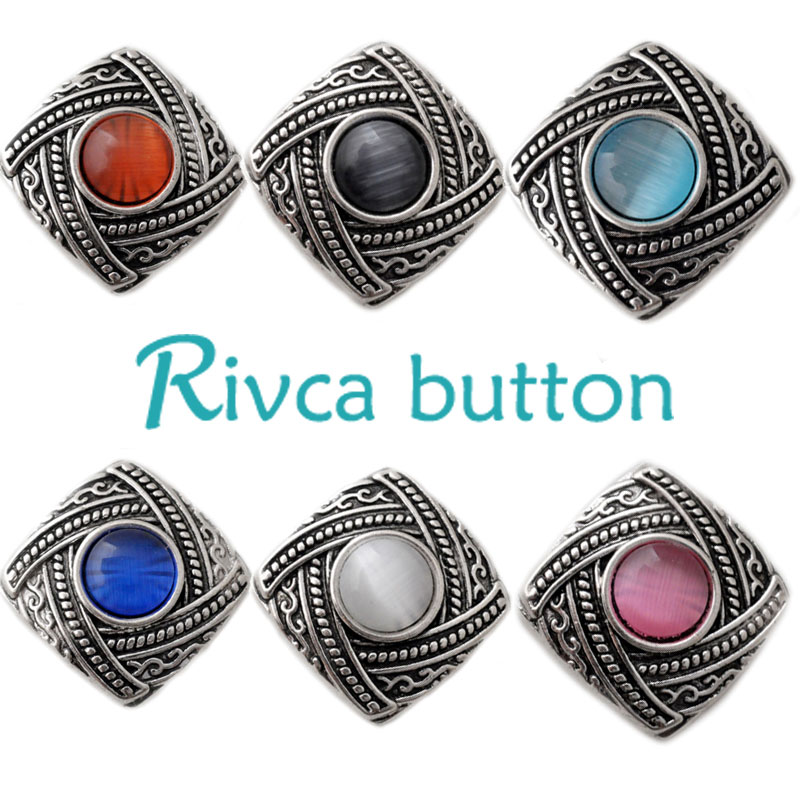 D02156 Newest 6 Color High Quality Charm Rhinestone Styles Alloy Ginger Snap Button Bracelet For Woman Rivca Snap Button Jewelry