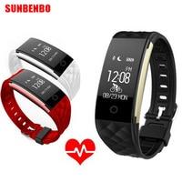 Hot Sale Waterproof Heart Rate Monitor Smartband Bluetooth Pedometer Smart Wristband Fitness Tracker Bracelet PK mi band 2 ID115