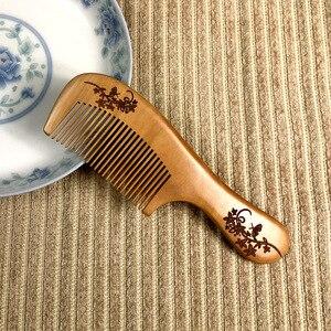 Peigne en bois de santal vert de poche | Peignes en bois à dent Super étroite, peigne à barbe, peigne à barbe, pas de poux statiques