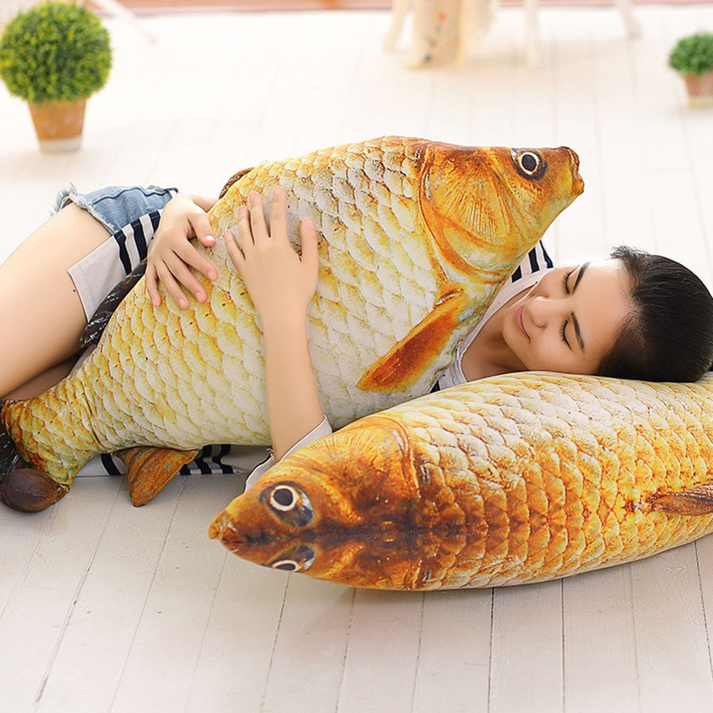 1 PC Hot Sale Cute Simulation Carp Fish Stuffed Plush Animal Toys Creative Sofa Pillow Kids Toy Christmas Holloween Gifts huge plush carp fish toy simulation carp lucky fish doll gift about 120cm