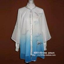 Customize Chinese Tai chi clothing taiji sword shawl performance veil kungfu uniform for women men children girl kids boy adults