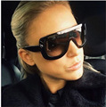 Fashion Women Square Gradient Sunglasses Over Size Frame Shades Sun Glasses 8 Styles Free Shipping