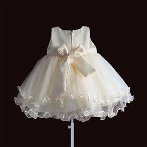 Image 2 - Baby Mädchen Kleid Für Party Prinzessin Spitze Perle Säuglings Taufe Kleid 1 Jahr Geburtstag Kleider Weihnachten Baby Kleidung