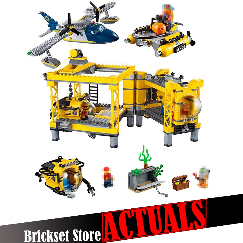 LEPIN 02088 Deep Sea Operation Base City Police Figures Building Blocks Bricks Toys For Children Compatible with legoINGly 60096 lepin 02006 815pcs city series police sea prison island model building blocks bricks toys for children gift 60130