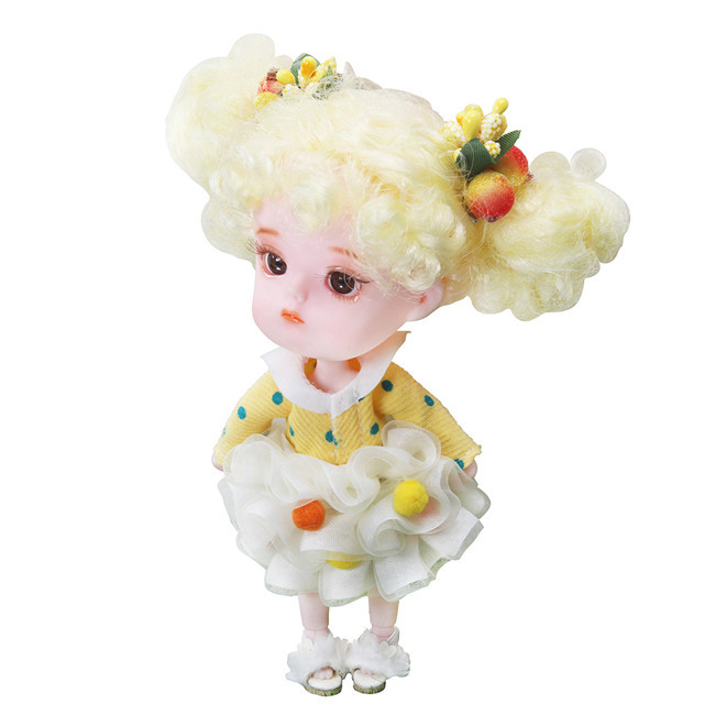 Dream Fairy 1/12 BJD 26 joint body ob11 mini doll with clothes shoes 14cm Cute children gift toy, name by DODO