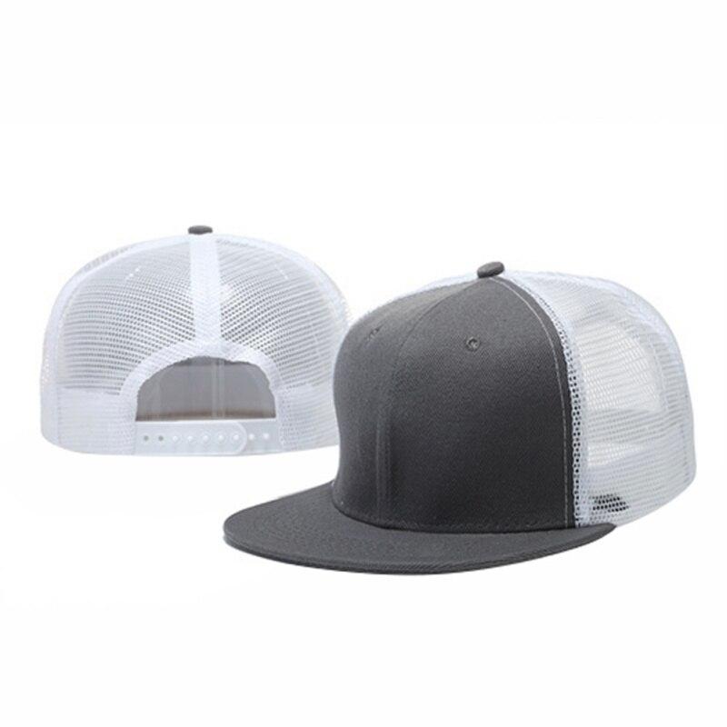 Women Men Baseball Tennis Caps Mesh Breathable Snapback Adjustable Flat Sun Hats Hip Hop Patchwork Sports Caps