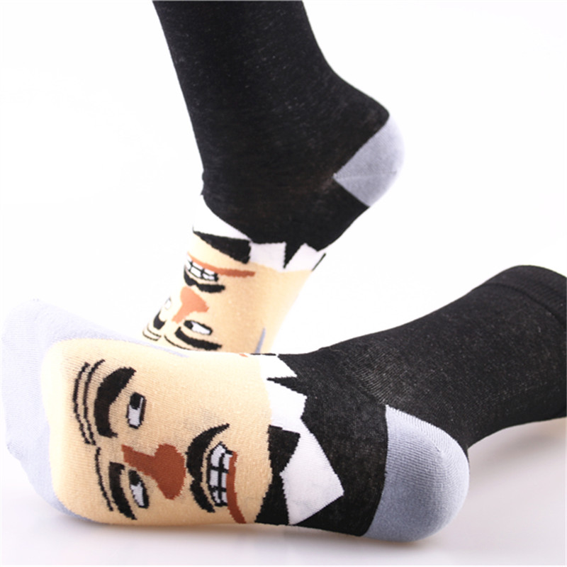 Asenmei Brand New Fashion Funny Men Socks 1 Pair High Quality Calcetines Divertidos Hombre Long Ankle Socks Cotton