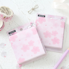 Buy 2pcs Sakura flower sticky note 80 sheets Pink cherry blossom color memo record pad Stationery gift Office School supplies A6455 directly from merchant!