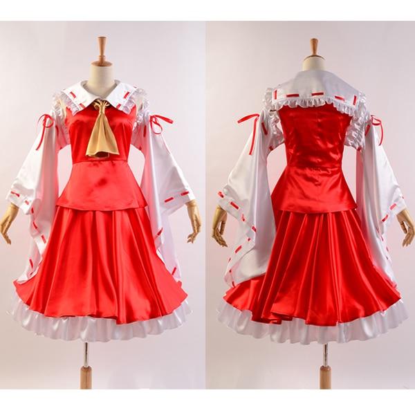 Touhou Project Reimu Hakurei Cosplay Costume Flandre Scarlet Cosplay Dress Full Set Custom Made
