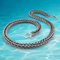 Бесплатная доставка! Мужские брендовые ювелирные изделия, новая мода, тайская Серебряная цепочка, мужское ожерелье, восстановление древних...