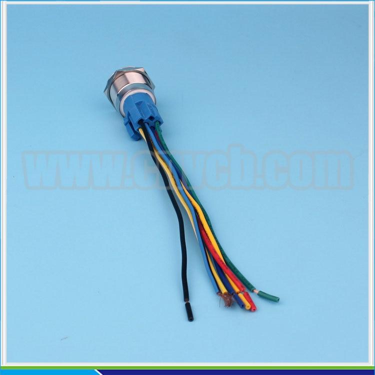 SET121 22mm 12 V RGB dreifarbige LED licht momenatry AUF ...