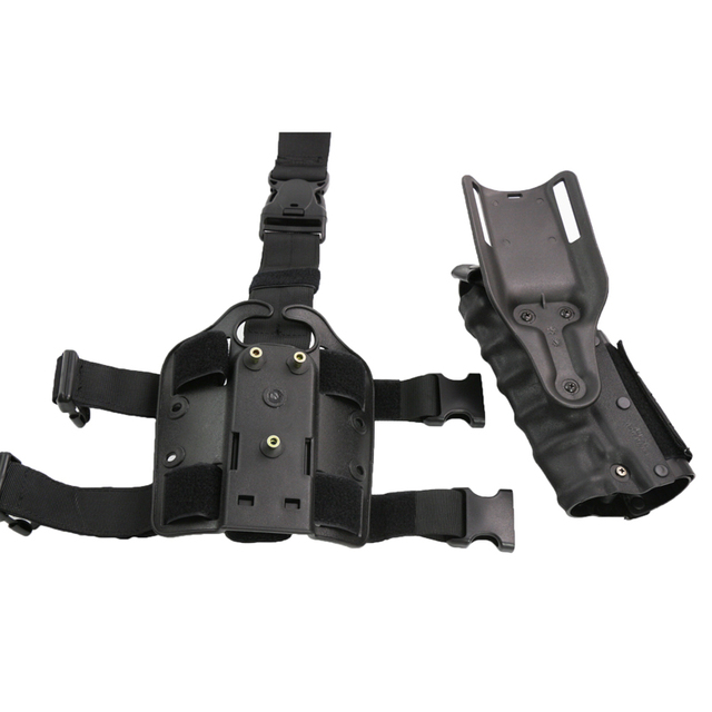 Hunting Army Airsoft Tactical Holster Right & Left-Handed Thigh Leg Combat Gun Holster Fit For GL 17 M92 M96 USP P226 2