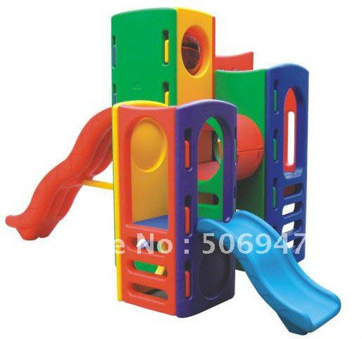 Toddler Playhouse With Slide Kids Outdoor Playhouse