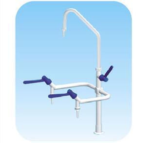 Robinet d'eau de laboratoire C3009 trois ensembles de robinet d'angle de coude de coude