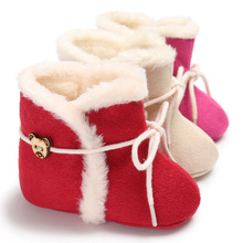 Winter Brand Red Cotton Baby Shoes With