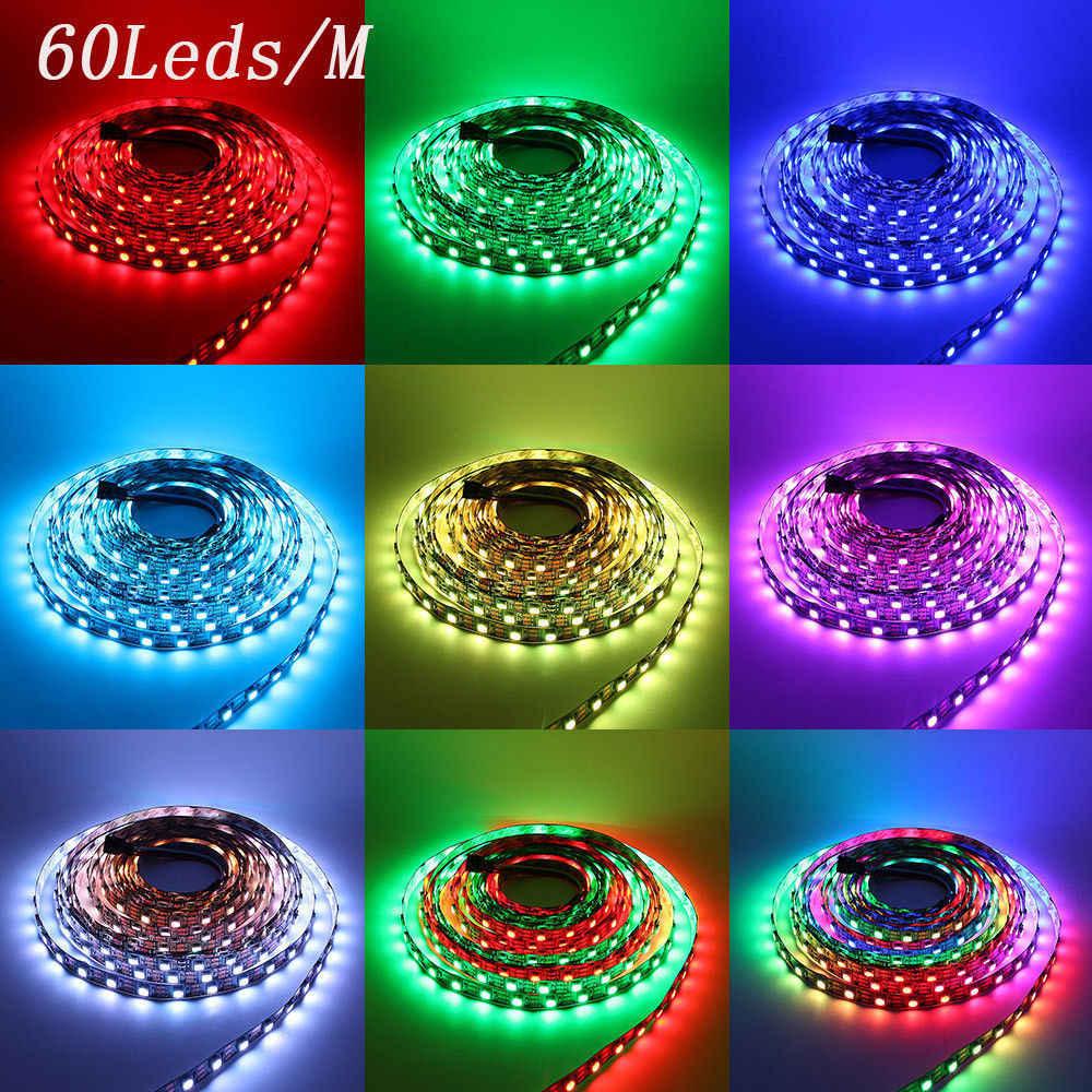 WS2812B LED Streifen WS2812 IC 5 V 30/60/144 leds Einzeln Adressierbaren traum farbe RGB Smart LED pixel Streifen string band 1 m 5 m