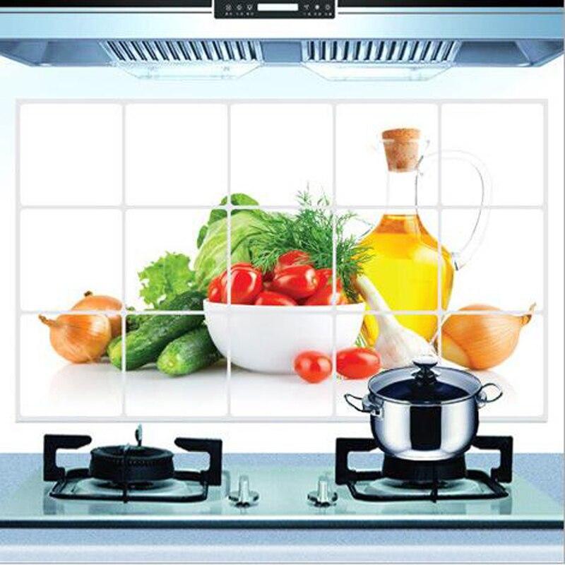 Achetez en gros fruits l gumes autocollants en ligne des grossistes fruits - Carreaux muraux cuisine ...