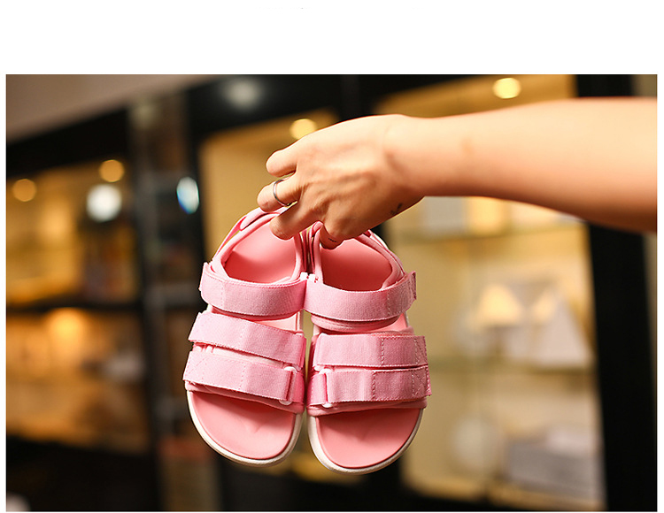 Summer New 2019 Kids Beach Sandals Baby Girls Casual Shoes Children Black Shoes Fashion Sandals Soft Brand Shoes Sport Sandals
