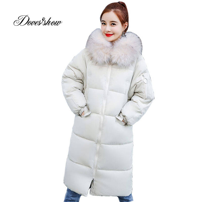 Hooded Winter   Down     Coat   Jacket Loose Long Warm Women Cotton-padded Casaco Feminino Abrigos Mujer Invierno Wadded Parkas Overcoat