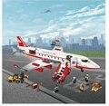 856 Шт. 8913 Городской Воздух Самолет Большой Пассажирский Самолет мини Строительный Блок рисунок Совместимость с lego