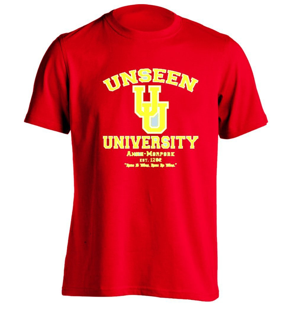 Unseen University Mens Custom T Shirt Personalized Tee In T Shirts