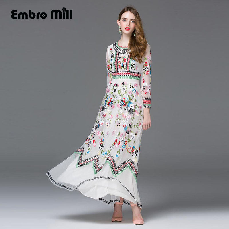 High end maxi dress new 2016 2016 summer american and for High end fashion websites
