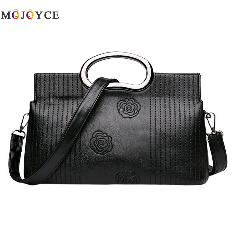 Luxury Brand PU Leather Women Messenger Bag Solid Color Female Shoulder Bag Office Lady Clutch Handbag Bolsa Feminina 4