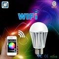 Magia 7 W E27 RGBW wi-fi lâmpada led remoto Sem Fio inteligente le lâmpada mudança de cor de controle pode ser escurecido para home hotel IOS Android