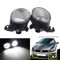 ANGRONG 2X For Renault Clio Driving Front Bumper Fog Light Lamp 45W SAMSUNG LED Bulb NS & OS
