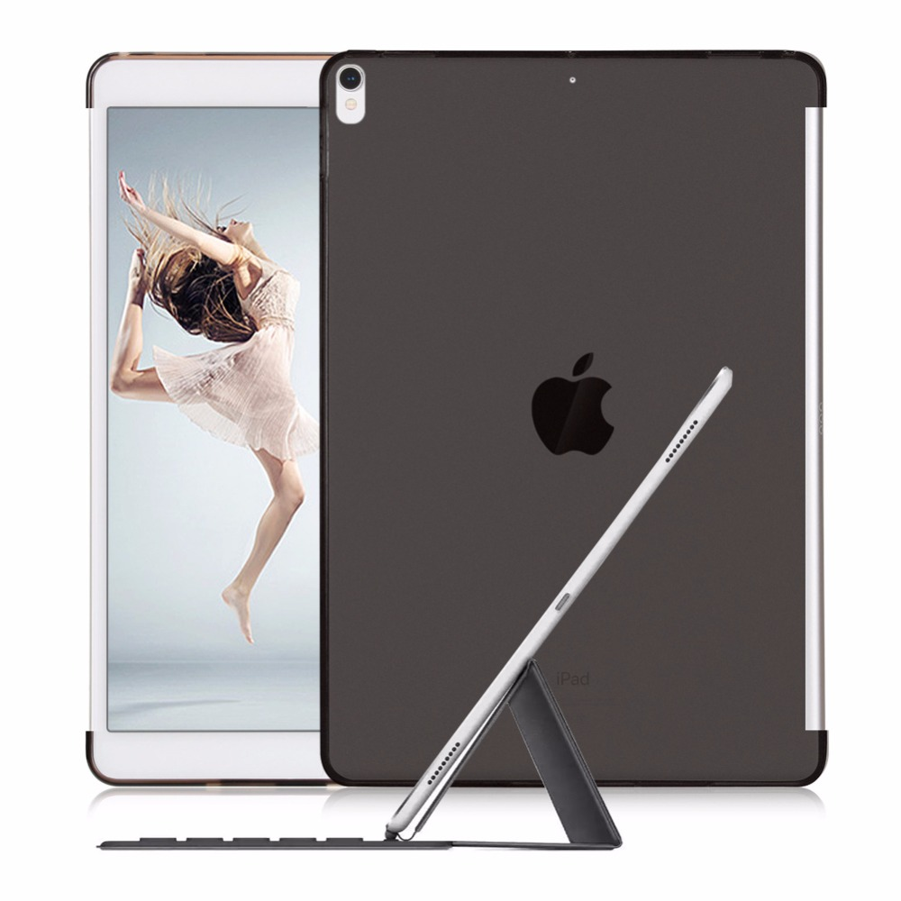 Case for 2017 iPad Pro 10.5 12.9 9.7 inch Keyboard Smart Cover Soft TPU Clear Slim Fit Back Shell Match With Bluetooth Keyboard case for ipad pro 9 7 inch esr slim fit shell case [soft tpu bumper corner] back cover for ipad pro 9 7 inches 2016 release