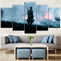2017 Classic Movie 5 Panels Canvas Poster Dunkirk Poster Print Cafe Creative Wall Interior Decoration No Frame