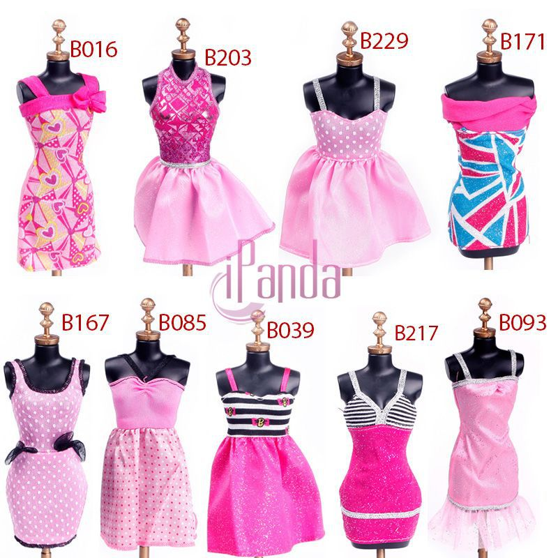 Kid Child Girl Fashion Evening Dresses Clothes For Barbie Dolls
