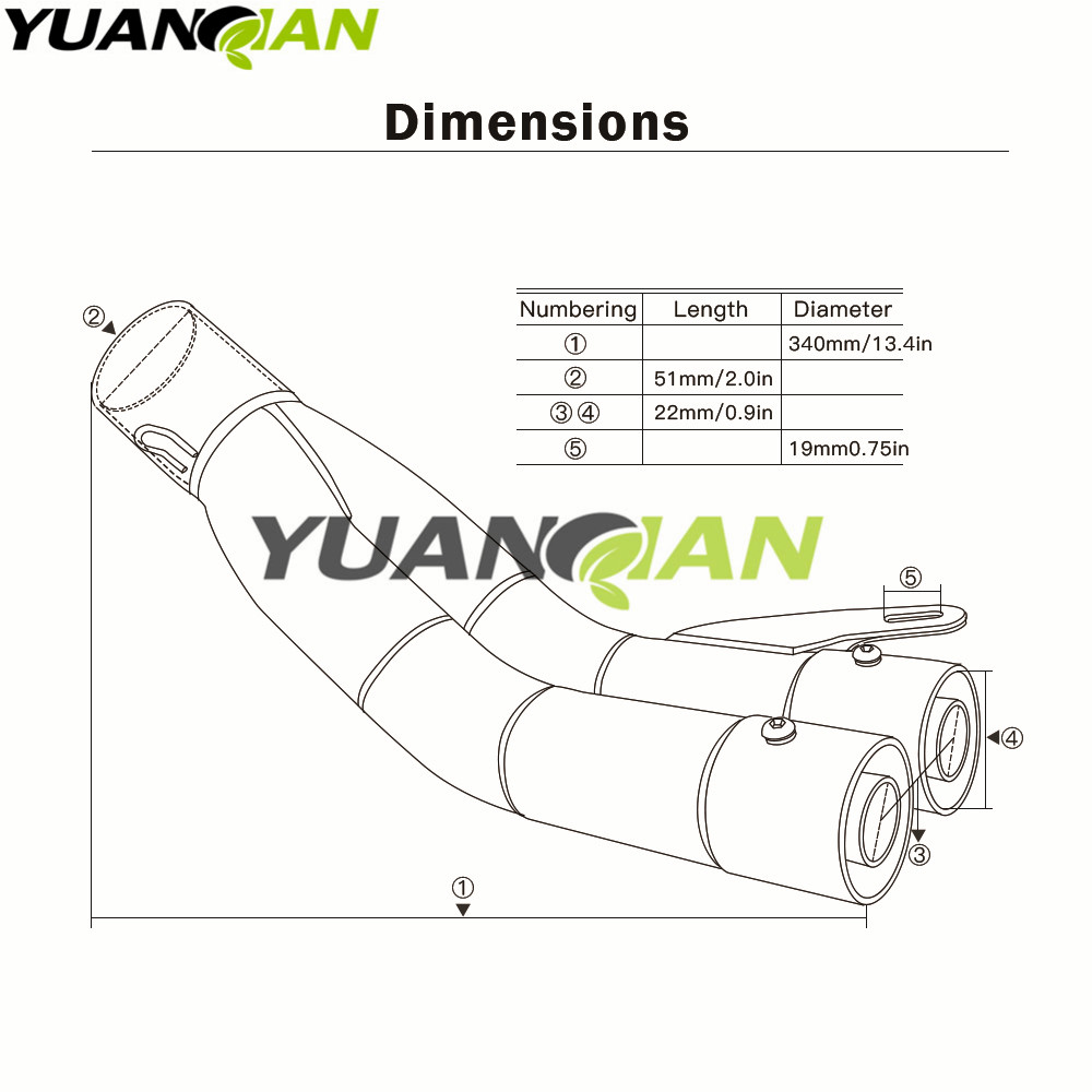 hight resolution of zx9r cylinder wiring diagram key wiring library 35 51mm universal motorcycle double exhaust muffler pipe for