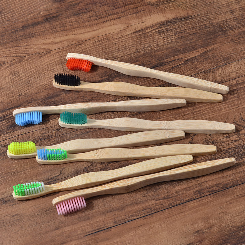 8 Colors Environmental Toothbrush Bamboo Health Toothbrush For Oral Care Teeth Cleaning Eco Medium Soft Bristle Brushes