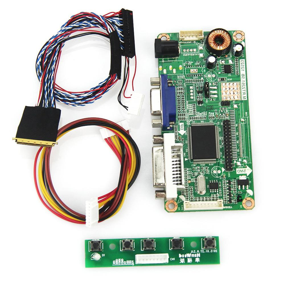 M.R2261 M.RT2281 LCD/LED Controller Driver Board For B156XW02 V.2 BT156GW01 V4 (VGA+DVI) LVDS Monitor Reuse Laptop 1366x768